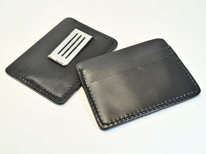 Portafoglio in pelle con clip fermasoldi  Amazon.it  Handmade a190973e12b1