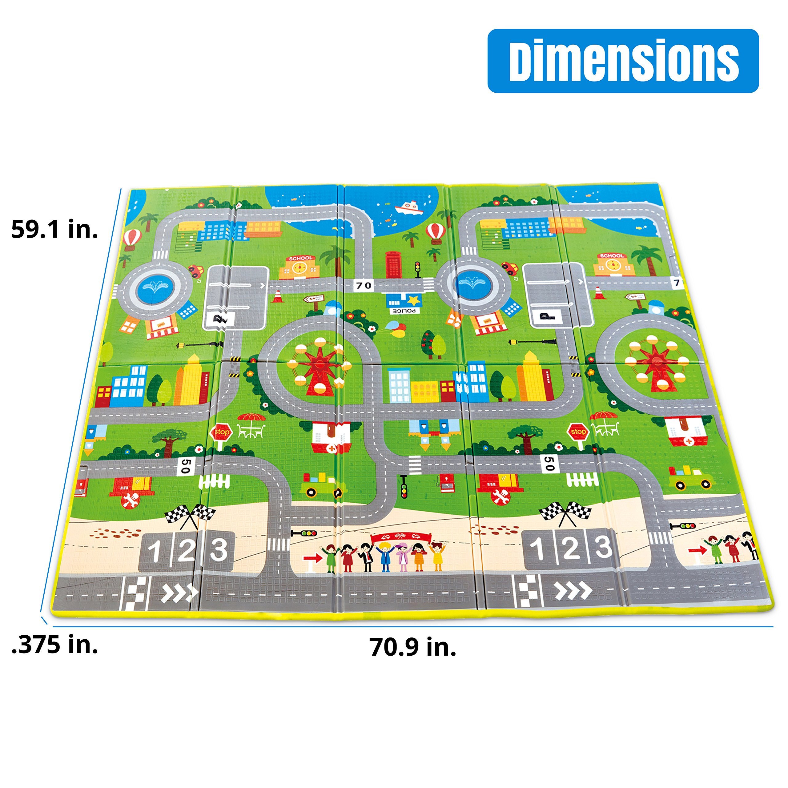 """USA Toyz Baby Play Mat - """"Hape Foldable Play Mat"""" Baby Gym Nontoxic Waterproof Baby Play Mats for Infants 3+ Mths with Kids Play Mat Carry Case by Hape (Image #2)"""