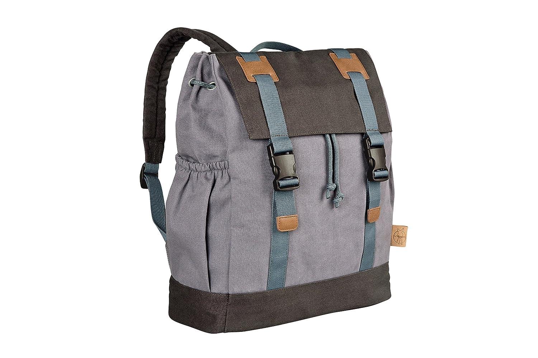 Lässig Vintage Little One und Me groß Backpack Wickelrucksack/Wickeltasche inkl. Wickelzubehör, groß, blue groß LBP249