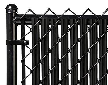 Contemporary Black Chain Link Fence Slats Ridged For 6 In Decorating