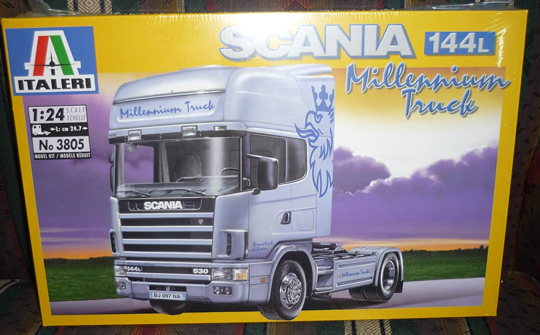 #3805 Italeri Scania 144L Millennium Truck 1/24 Scale Plastic Model Kit,Needs Assembly