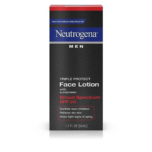 Neutrogena Men Triple Protect Face Lotion With Sunscreen, Broad Spectrum Spf 20, 1.7 Fl. oz.
