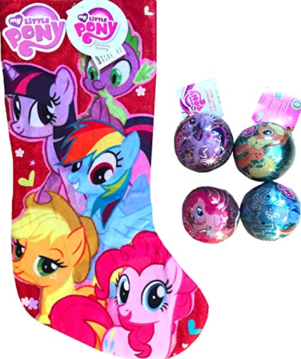 My Little Pony Christmas.Amazon Com My Little Pony Christmas Stocking With 4 My