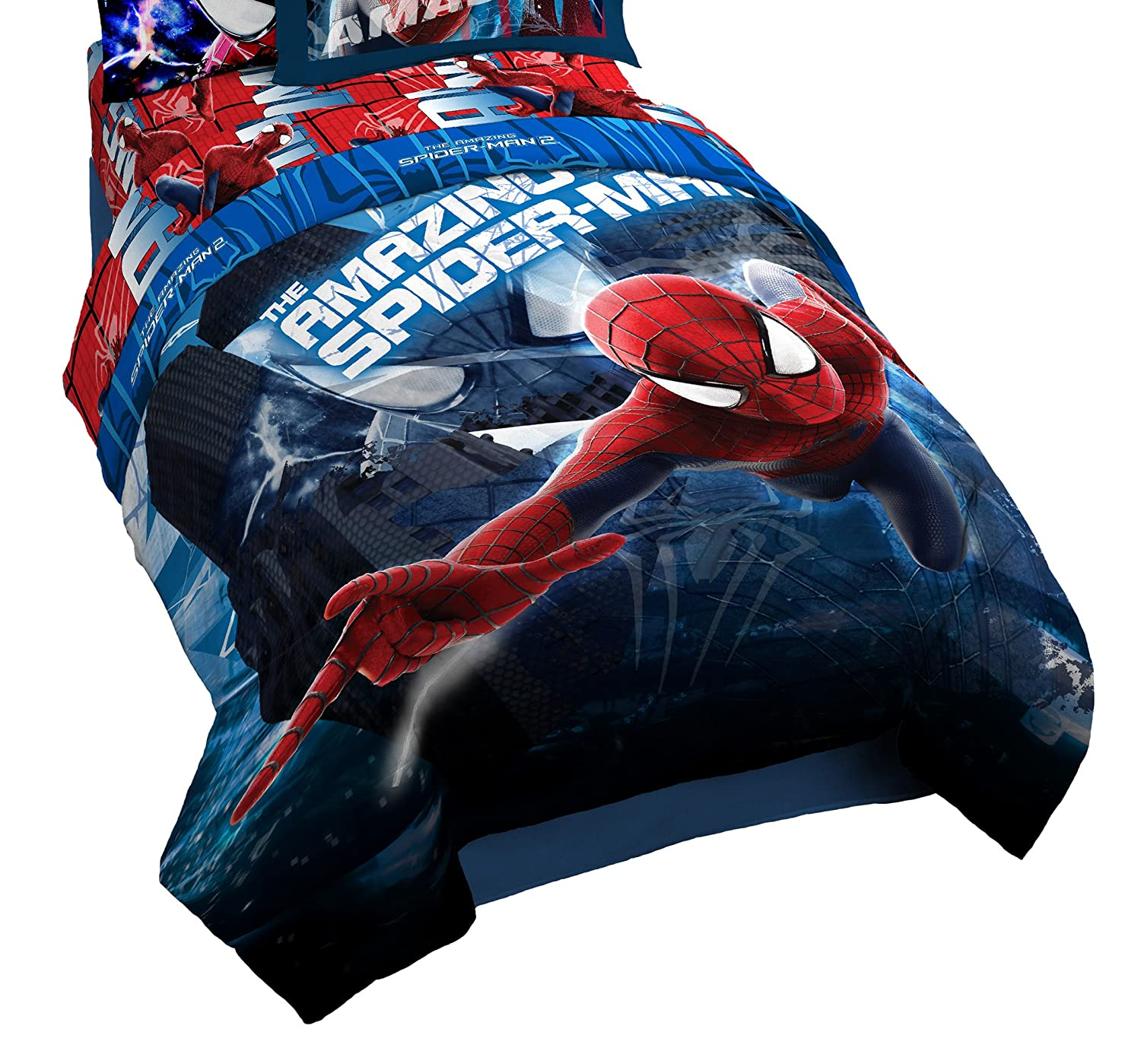 amazon com marvel spiderman homecoming reversible twin full