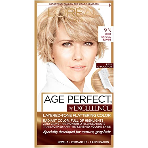 L'Oreal Paris ExcellenceAge Perfect Layered Tone Flattering Color, 9N Light Natural Blonde