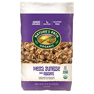 Nature's Path Mesa Sunrise with Raisins Cereal, Healthy, Organic, Gluten-Free, 29.1 Ounce Bag
