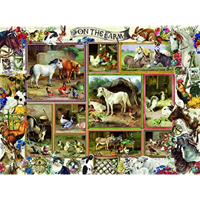 On The Farm 300 pc Jigsaw Puzzle by SUNSOUT INC: Toys & Games
