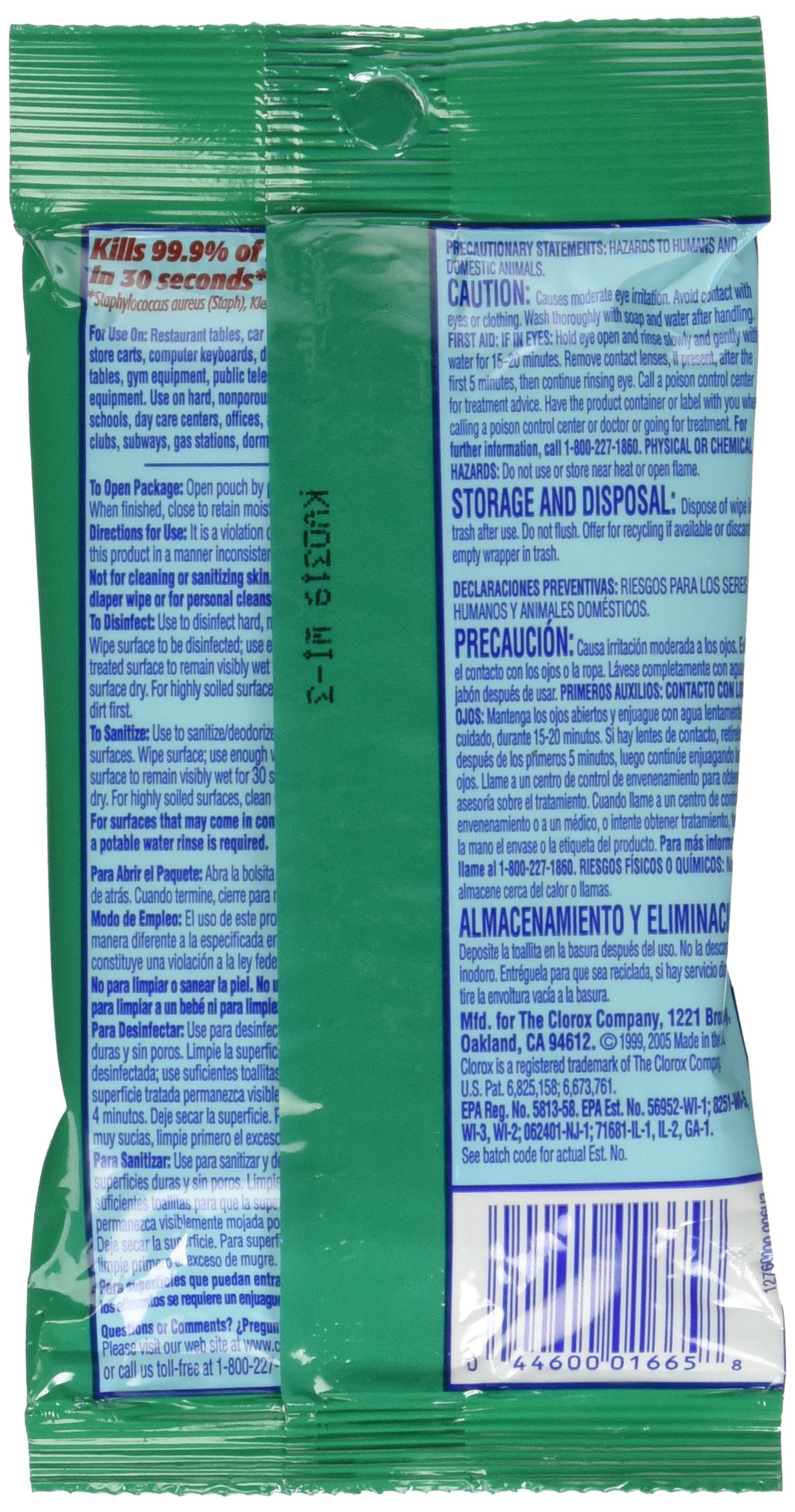Clorox Disinfecting Wipes To Go, Fresh Scent, Twenty- Four 9 Count Pack (216 Wipes) by Clorox Disinfecting Wipes (Image #3)