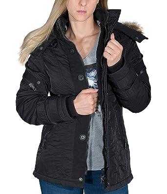 af99033d7187 Jetlag Damen Winter Jacke Kurz Mantel LimaBZ Vegan Fell Kapuze div Farben  (S-XXXL)  Amazon.de  Bekleidung