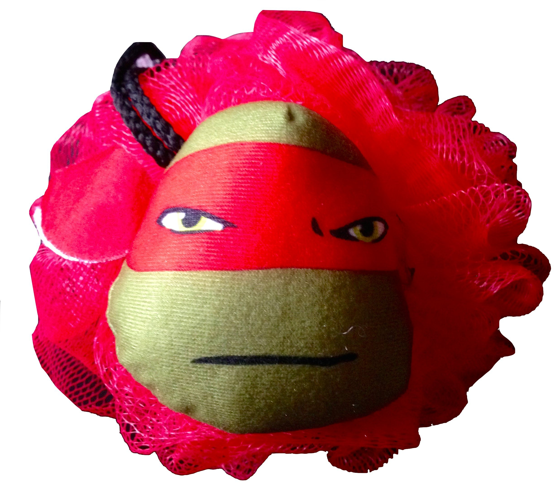 Nickelodeon Teenage Mutant Ninja Turtles Bath Accessories Bath Pouf with Teenage Mutant Ninja Turtles Body Wash to Compliment Perfect (Raphael)
