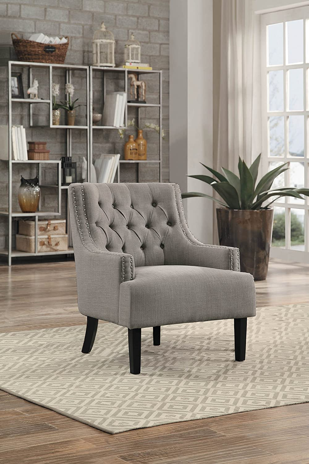 Homelegance Charisma Fabric Uphostered Accent Chair, Taupe
