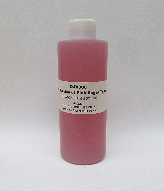 Premium Fragrance Body Oil (OJX006 Our Version of Pink Sugar Type, 4 oz )