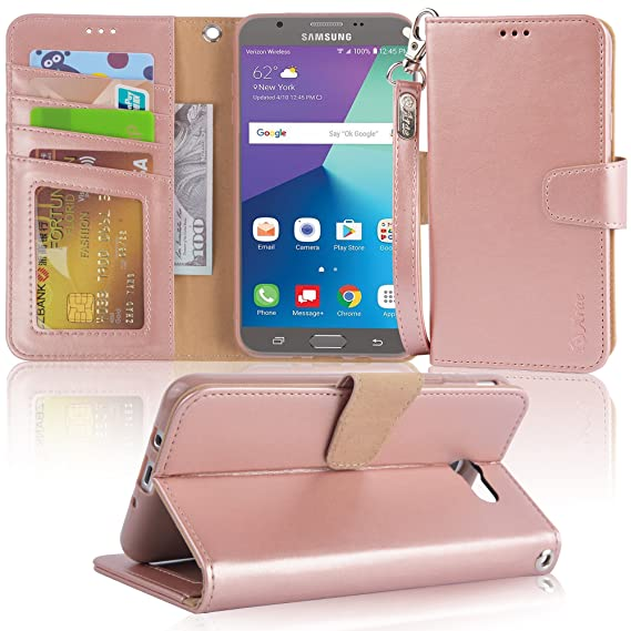 promo code f71ce 81ec4 Arae Case Compatible for Samsung Galaxy J7 2017 / J7 V / J7 2017 / J7 Prime  / J7 Perx / J7 Sky Pro/Galaxy Halo, Wallet Case with Kickstand and Flip ...