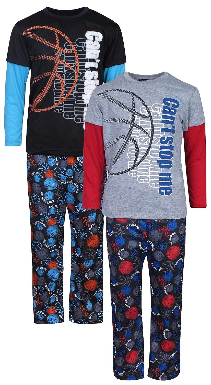 Amazon.com: Quad Seven Boys 2-Pack Long Sleeve and Pant Pajama Set, Basketball, Size 8/10, 2 Pack: Clothing