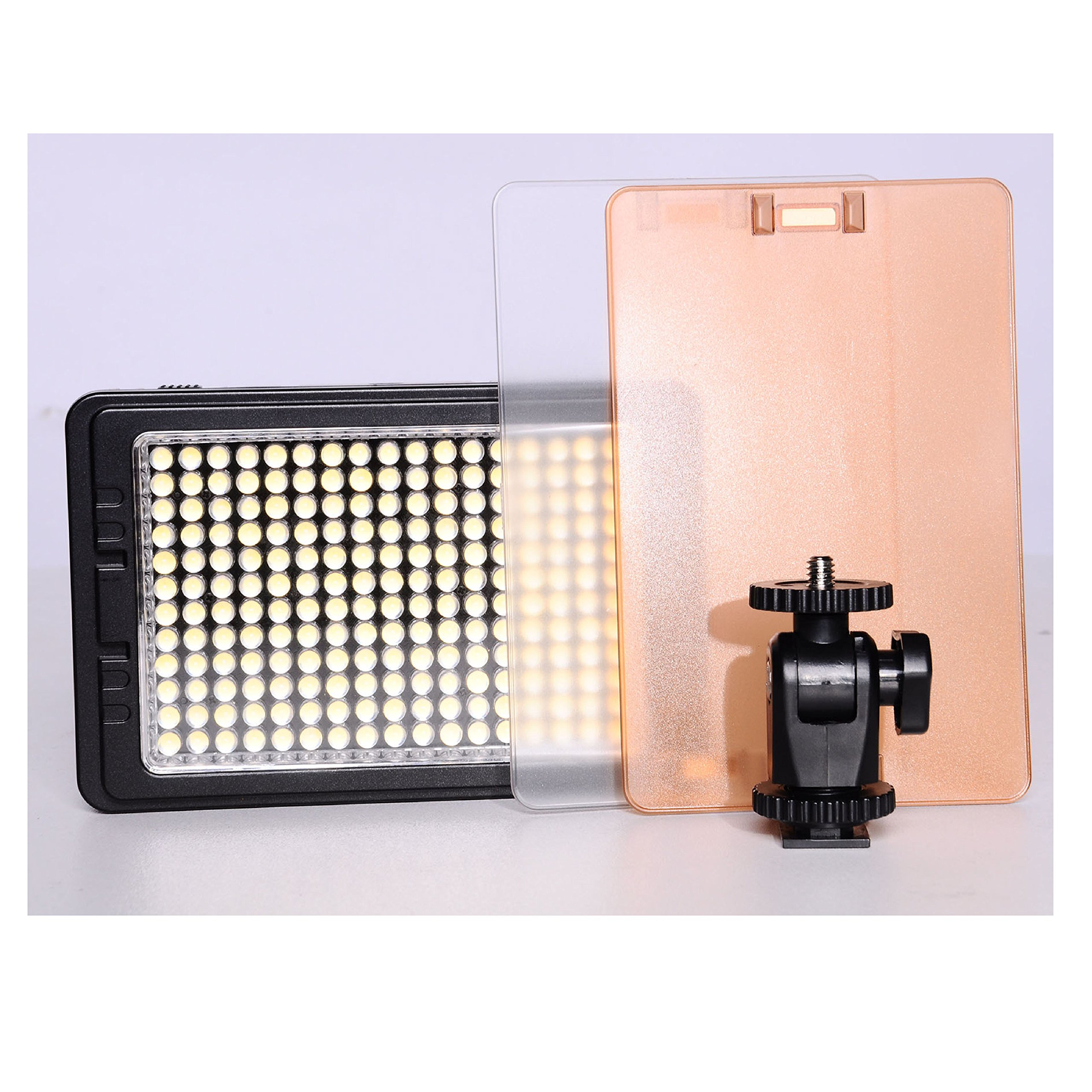Tolifo Pt-C-160s 160 LEDs 10w Dimmable Daylight LED Camera / Camcorder Light Led Light Panel Mounted on Ball Head for Canon Nikon Pentax DSLR Camera Video Camcorder