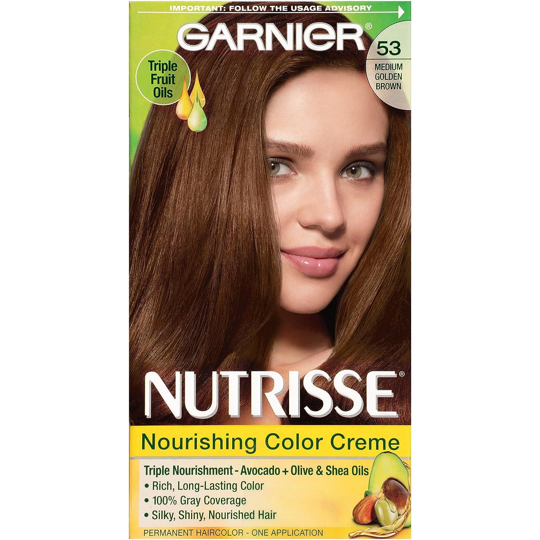 Garnier olia permanent hair colour golden brown 5 3 - Buy Garnier Nutrisse Nourishing Color Creme 53 Medium Golden Brown One Application Online At Low Prices In India Amazon In