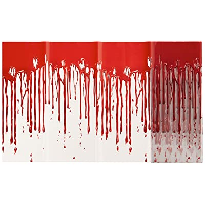 Beistle 00533 Dripping Blood Poly Decorating Material, 12-Inch by 25-Feet: Kitchen & Dining