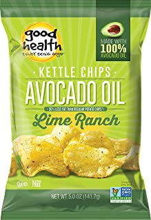 product image for Good Health Kettle Potato Chips, Avocado Oil Chilean Lime, 5 Ounce (Pack of 12)