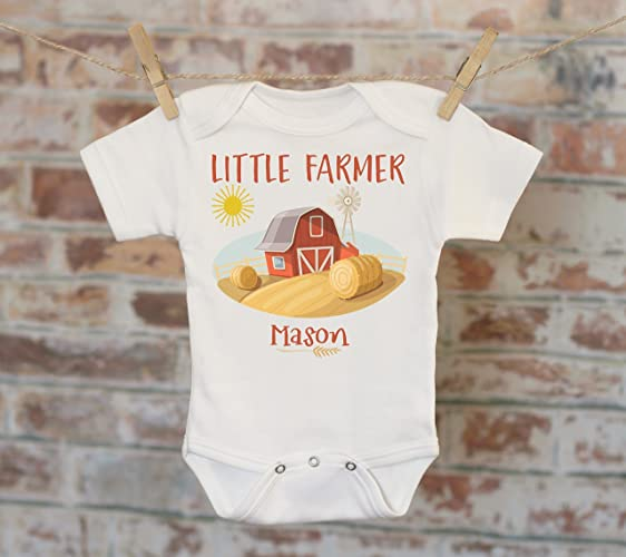 Amazon Little Farmer Personalized Onesie Custom Baby Onesie