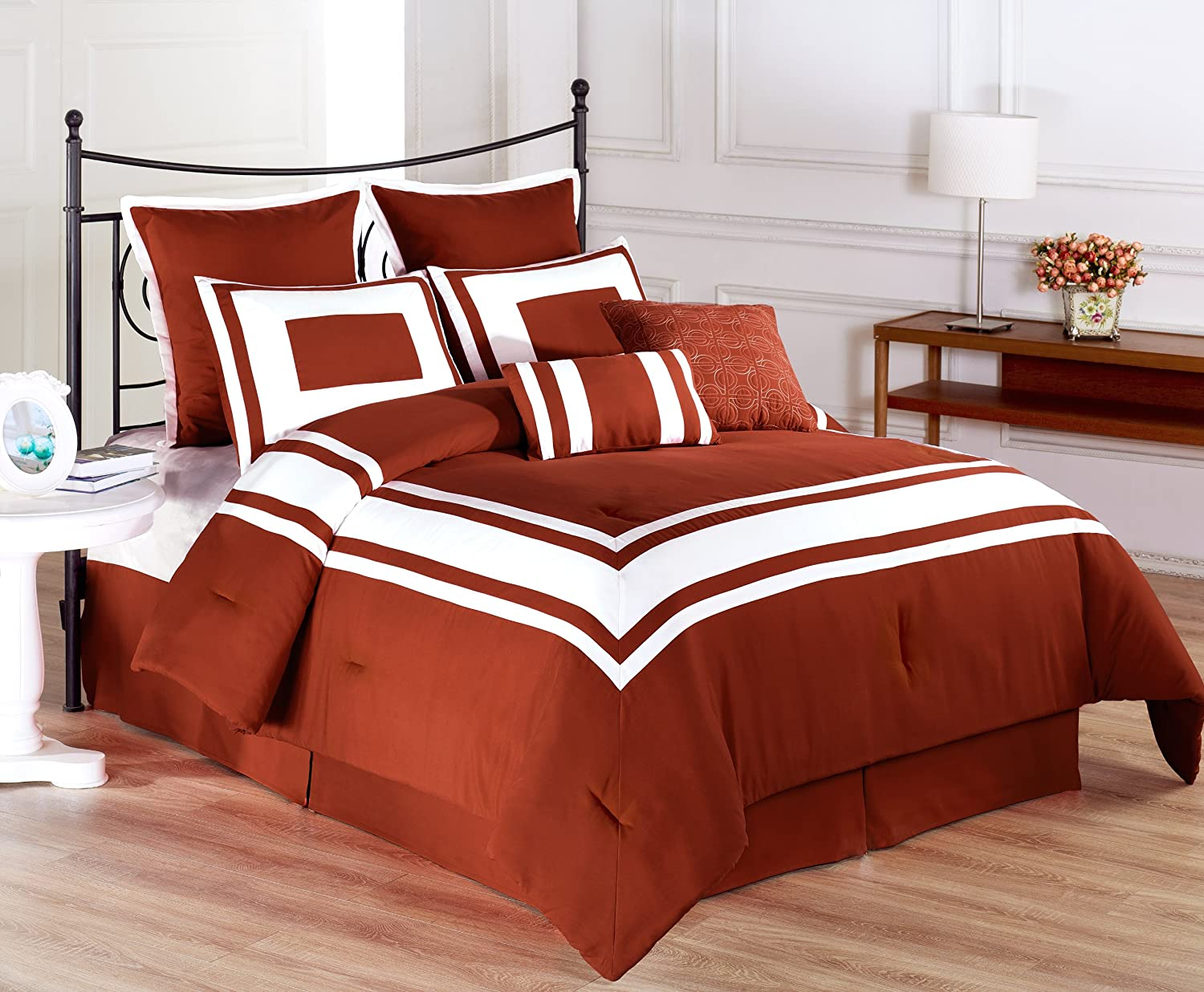 oversized collection bedspread set comforter on sets rust sales cotton brylanehome aqua