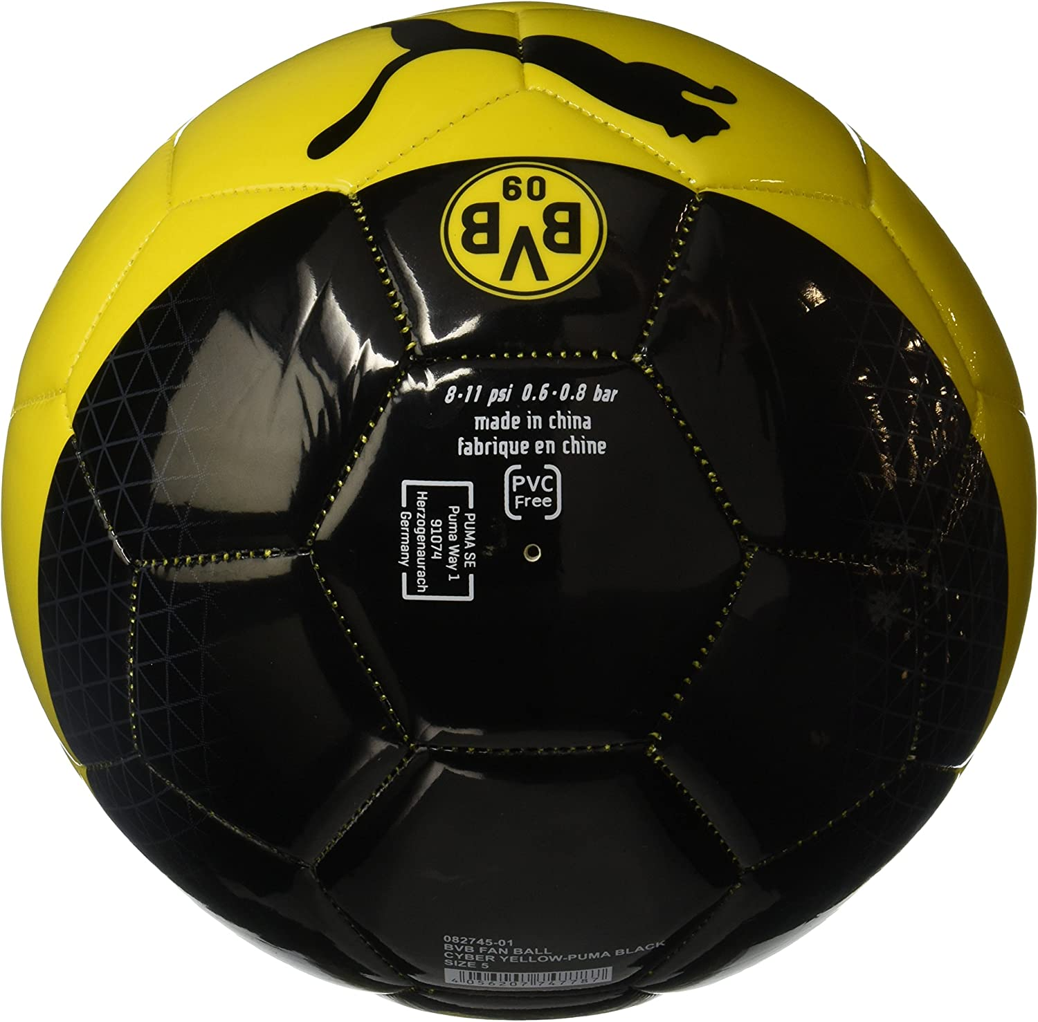 Puma BVB Fan Ball, Primavera/Verano, Color Cyber Yellow-Puma Black ...