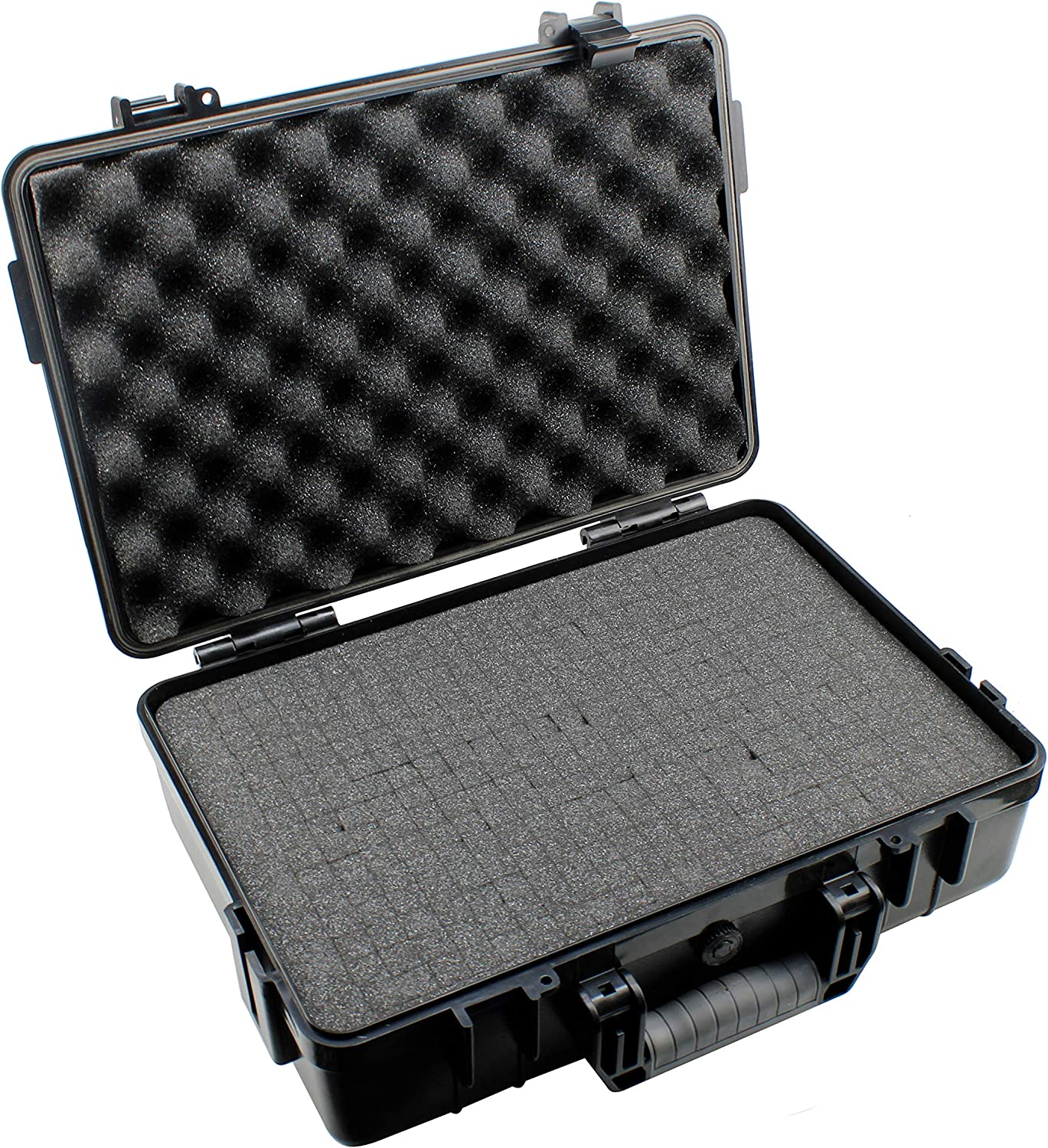 HFS (R) Portable Black All Weather Waterproof Camera Bag Protective Carrying Case with Foam