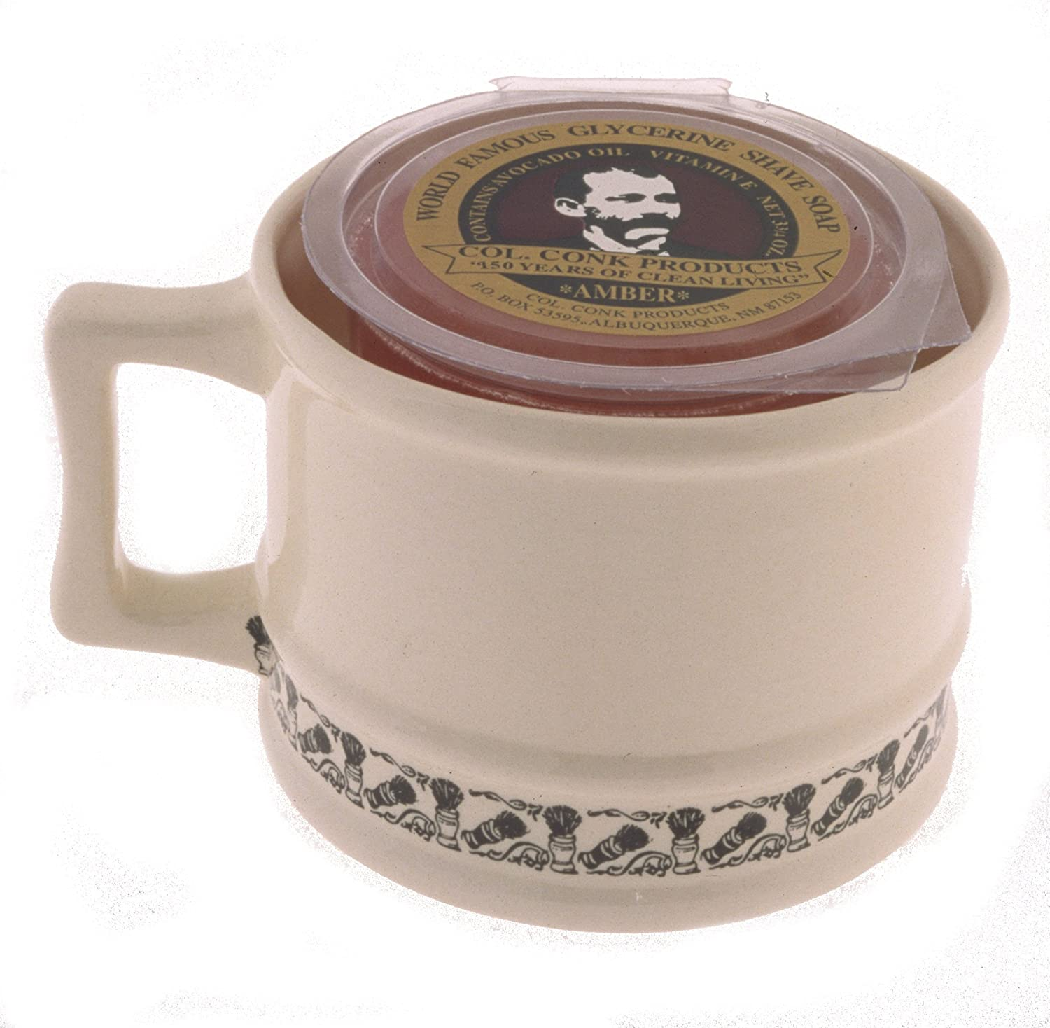 Col. Conk Products Model 129 Super Shave Mug with Soap