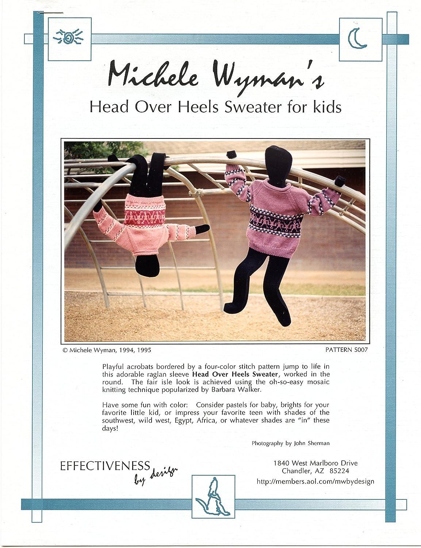 Michele Wymans Head Over Heels Sweater for Kids Knitting Pattern S007