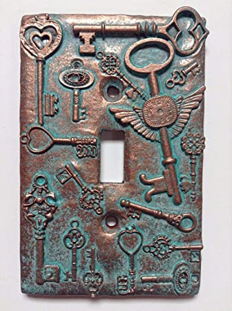 Amazon keys steampunk stonecopperpatina light switch keys steampunk stonecopperpatina light switch cover custom sciox Image collections