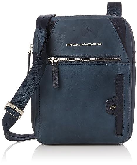selezione premium dd35b 7f7e7 Piquadro Borsello Collezione Phoenix Borsa Messenger, Pelle, Blu, 27 cm