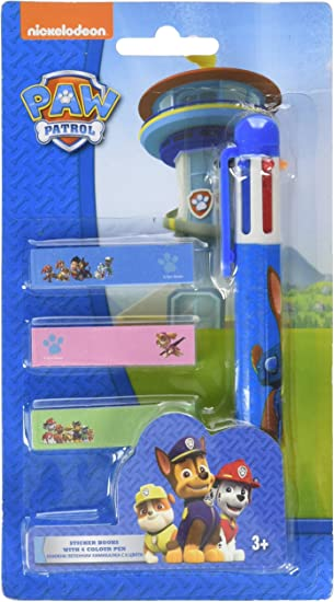 Atosa-31472 Paw Patrol Pack de 6 Bolígrafos de Colores, Azul, 19x10 cm (31472): Amazon.es: Juguetes y juegos