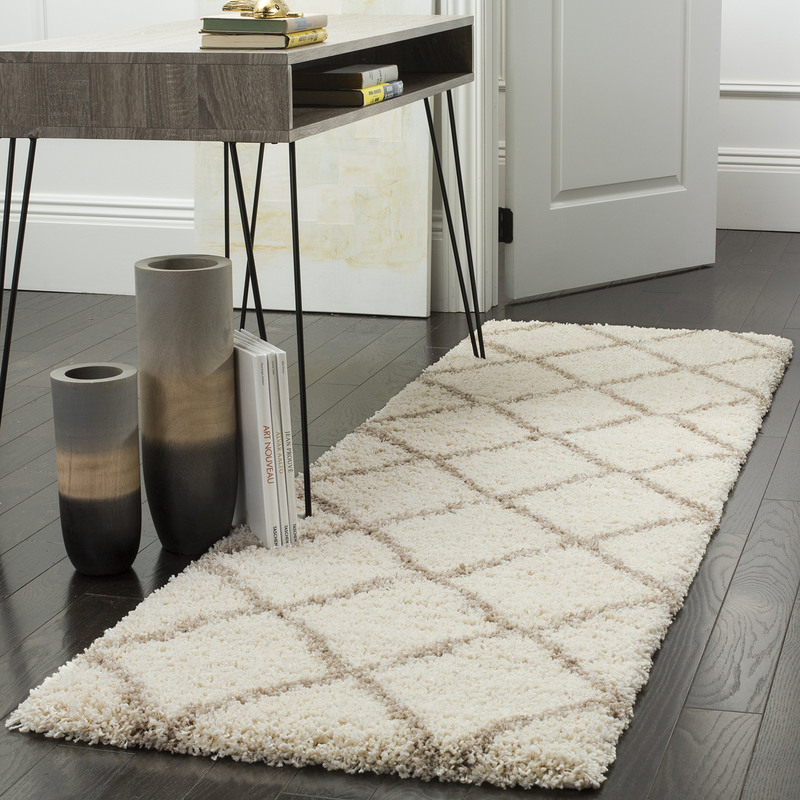 Safavieh Hudson Shag Collection SGH281D Ivory and
