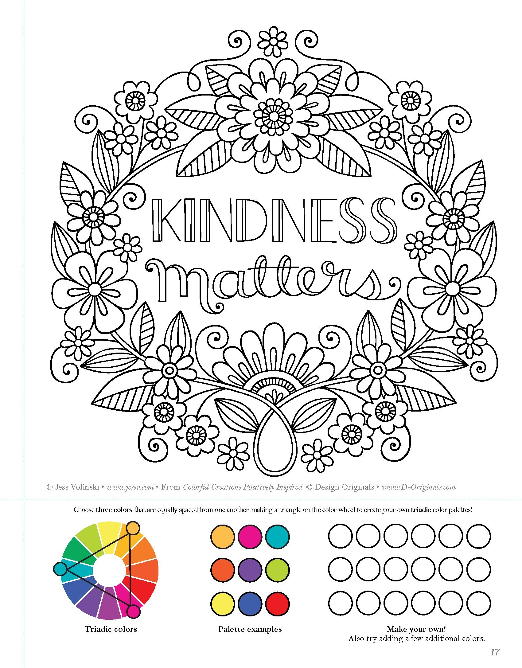 Amazon.com: Colorful Creations Positively Inspired Coloring Book ...