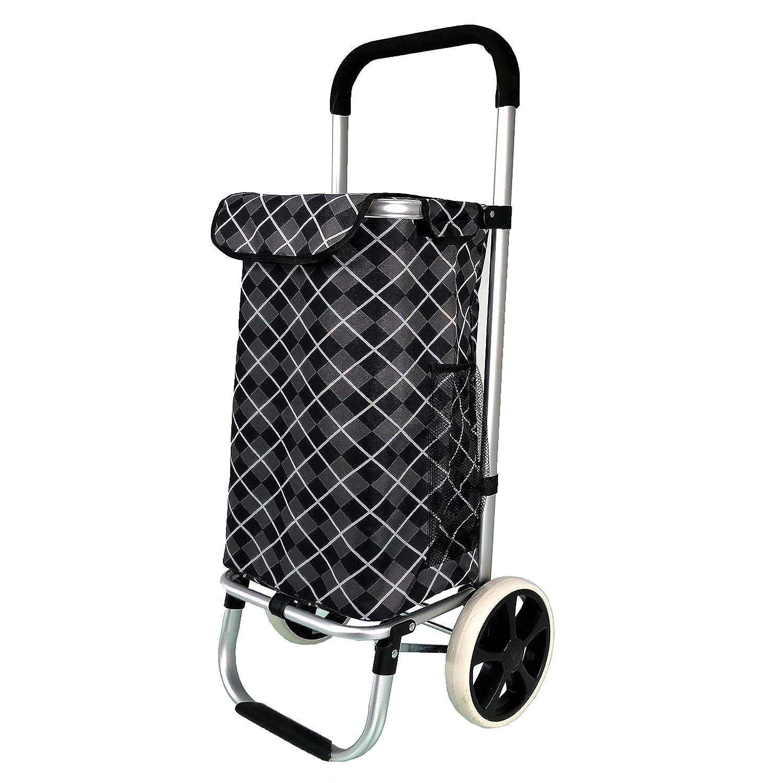 extra/íble QTC Aluminio Carro//Plegable Shopper//Aprox 97/cm//Funda con Velcro