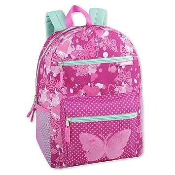 Amazon.com: Mochila para niña con apliques de felpa y ...