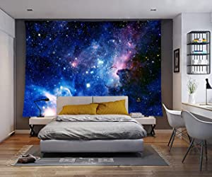 YSJ Galaxy Home Decor Tapestries Running Galaxy Kid Wall Art Tapestry Living Dorm Beach Throw Tapestries Wall Hanging Colorful (Blue Galaxy, 60''x 80'')