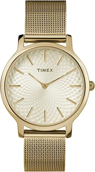 Timex Reloj Analógico-Digital para Mujer de Cuarzo con Correa en Acero Inoxidable TW2R36100: Amazon.es: Relojes
