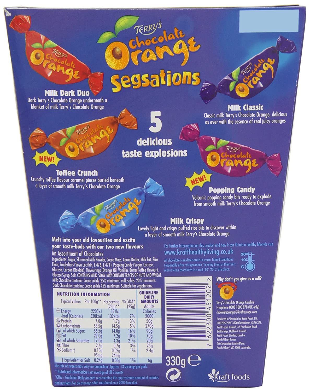Amazon.com : Terry's Chocolate Orange Segsations Boxed Chocolates ...