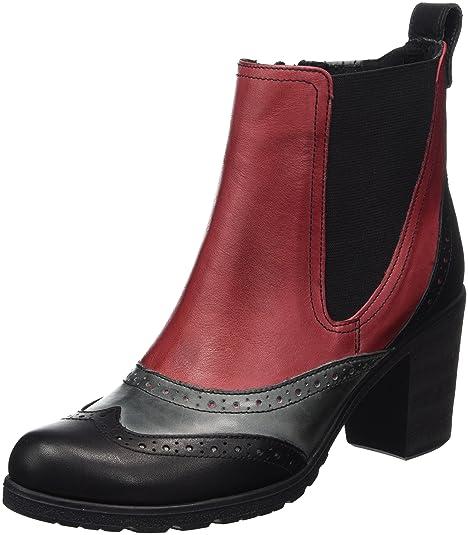 Andrea Conti 1672707, Botas para Mujer, (Schwarz/Bordo 233), 41 EU: Amazon.es: Zapatos y complementos