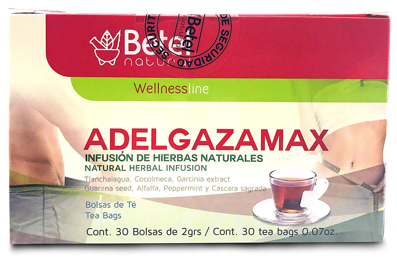Adelgazamax Tea - Weight Loss Supplement with Cocolmeca & Garcinia Cambogia - 30 Count Betel Natural