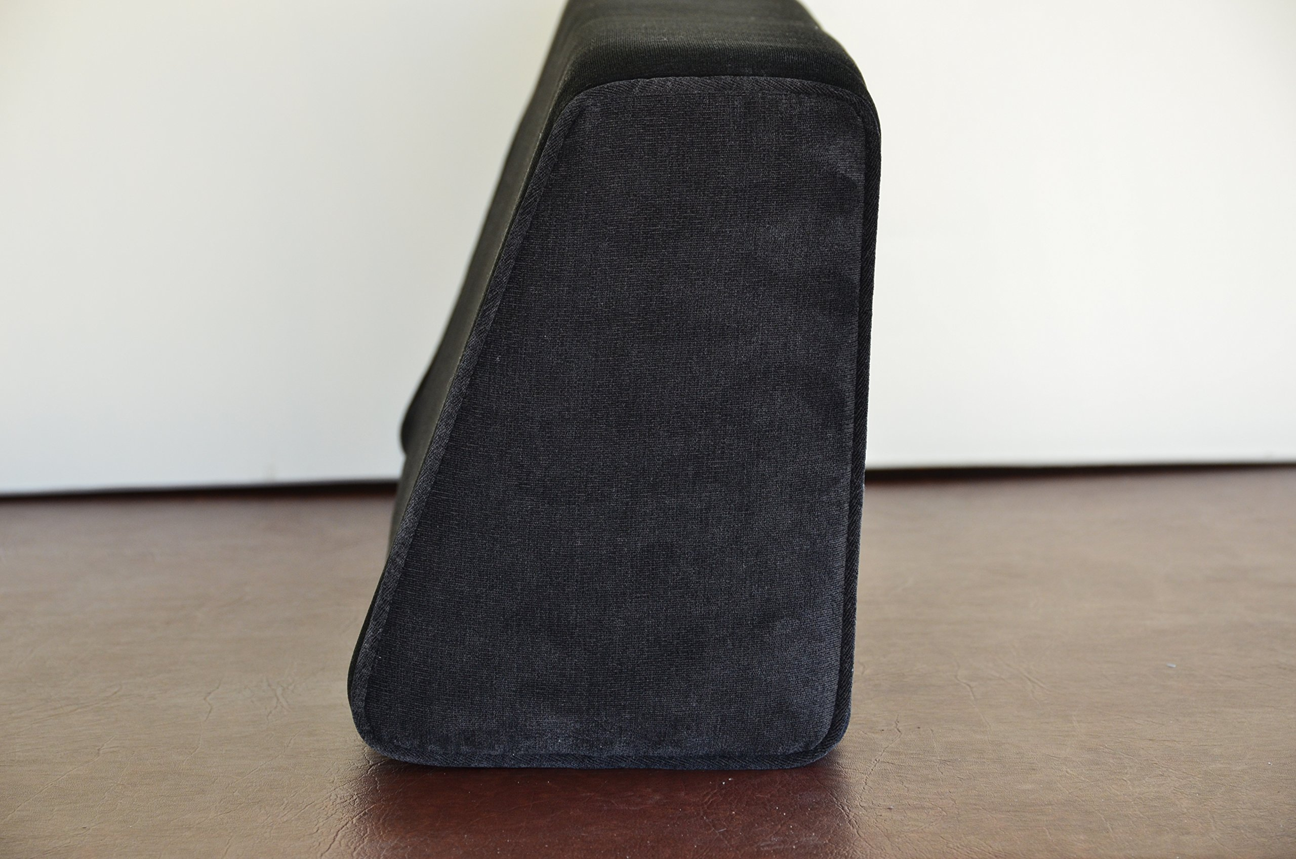 Wedge Bolster with Cover (Antique Velvet Black)
