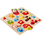Goula - Puzzle siluetas, 15 piezas de madera (Diset 53023)