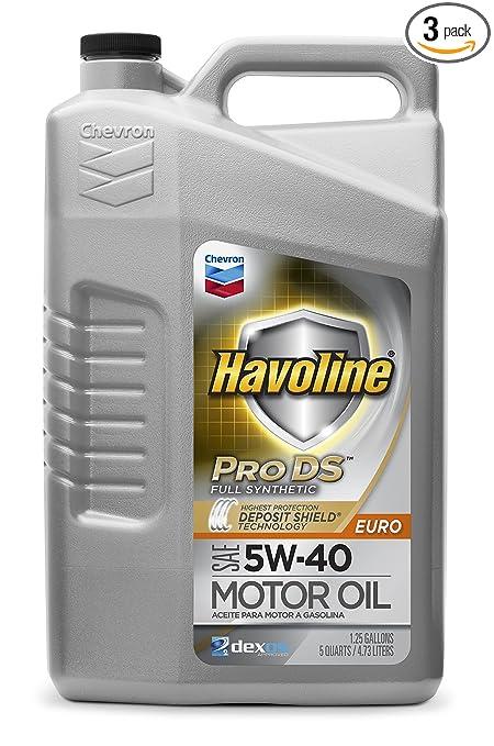 Amazon.com: HAVOLINE 223726485 PRO DS Full Synthetic 5W40 Oil, 5 Quart, 3 Pack: Automotive