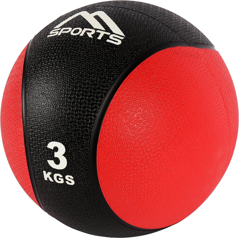 MSPORTS Balón Medicinal Set 1 + 3 kg – Calidad de Estudio Profesional Pelotas de Gimnasia Fitness Set: Amazon.es: Deportes y aire libre