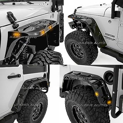 Pocket Style Fender Flares 97 06 Jeep Wrangler Tj