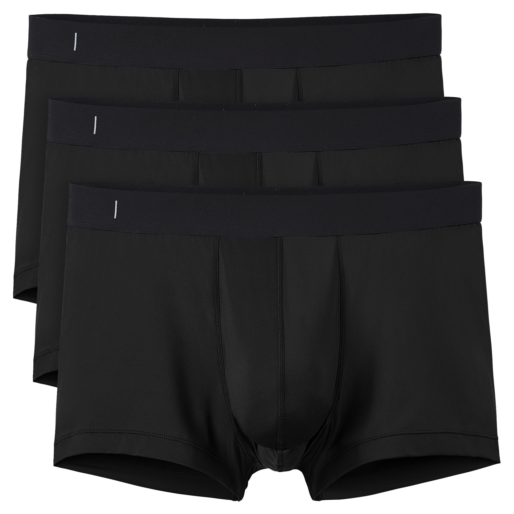 Separatec Men's 3 Pack Quick Dry Underwear Breathable Separate Pouch Trunks(XL,Black)