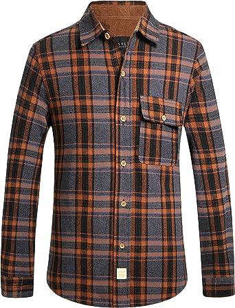 SSLR - Camisa de Franela para Hombre, Corte Ajustado, Manga Larga, diseño de leñador: Amazon.es: Ropa y accesorios