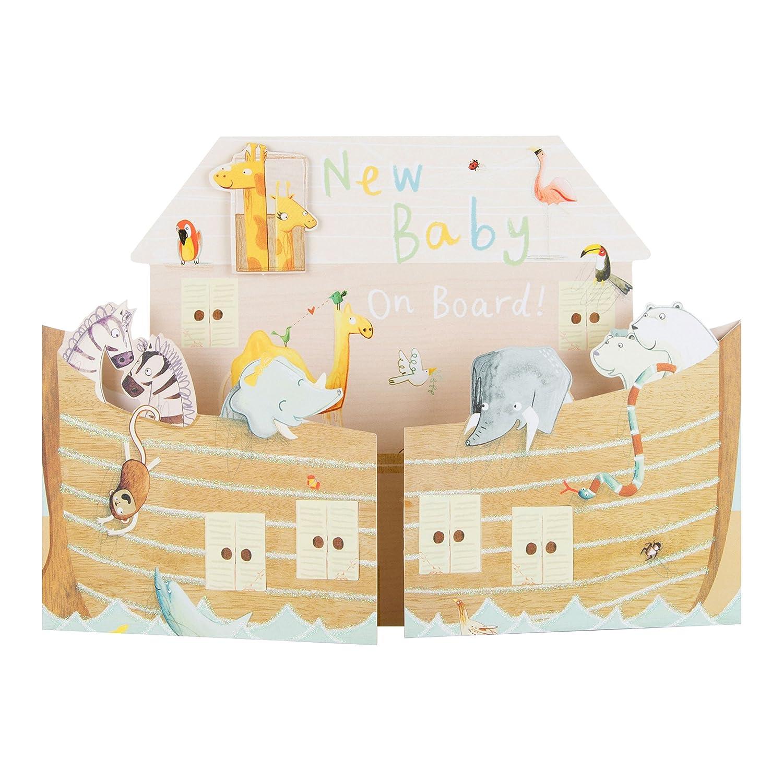 Hallmark 25502314/Medium ArkNew Baby pop out card