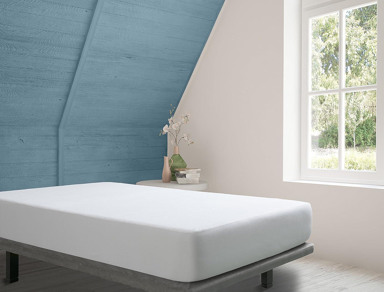 Tural Protector de Colchón con Tratamiento Aloe Vera. Impermeable y Transpirable. Rizo 100% Algodón. Talla 140x190/200cm: Amazon.es: Hogar