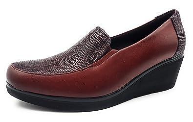 Damen Schuhe, - burgunderrot - Größe: 40 Pitillos